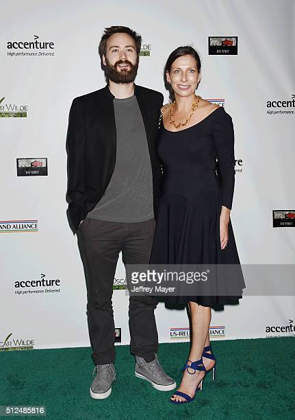 Writer Benjamin Cleary and director Serena Armitage arrive at the 2016 Oscar Wilde Awards at Bad Robot on February 25, 2016 in Santa Monica,...