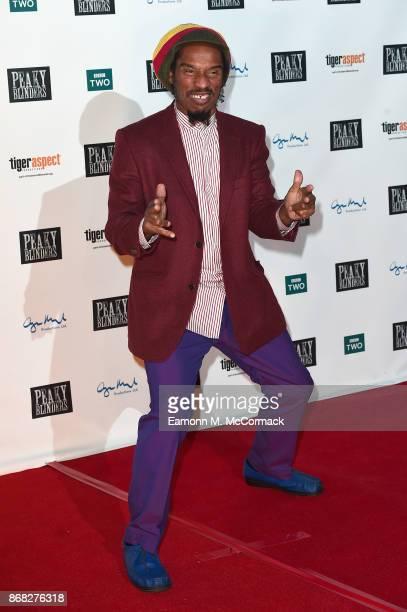 Writer Benjamin Zephaniah attends the Birmingham Premiere of Peaky Blinders at cineworld on October 30 2017 in Birmingham England