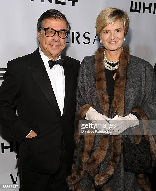 Writer Bob Colacello and guest attends the 2008 Whitney Museum of American Art Gala at the Whitney Museum of American Art on October 20, 2008 in New...