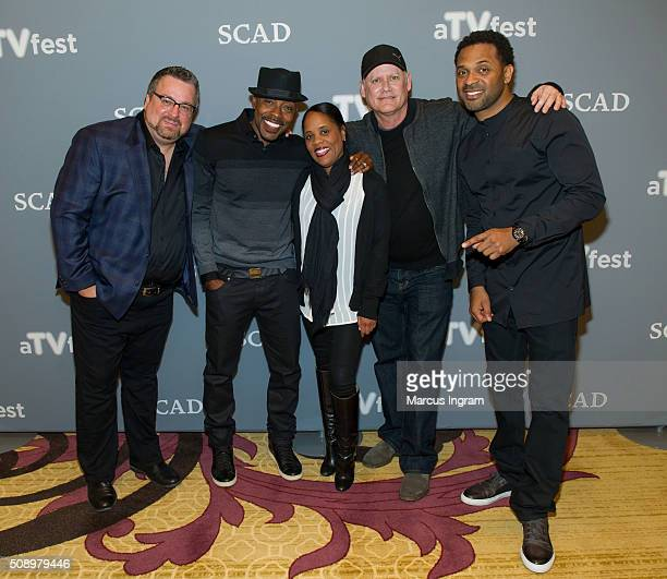 Writer Brian Bradley Producer Will Packer Korin Huggins writer Steven Cragg and actor Mike Epps attend 'Uncle Buck' event during SCAD aTVfest 2016...