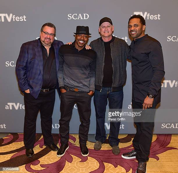 Writer Brian Bradley producer Will Packer writer Steven Cragg and actor Mike Epps attend 'Uncle Buck' event during aTVfest 2016 presented by SCAD on...