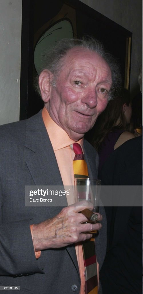 Writer Brian Friel at the After-Party in the 'Adams St Club' for the opening night of the play 'Afterplay' to celebrate actor John Hurt's return to the West End stage at the Gielgud Theatre in which he co-starred with actress Penelope Wilton on 19th September 2002 in London.