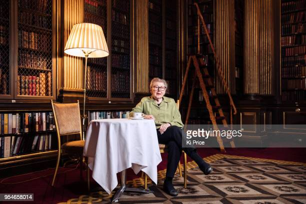 Writer broadcaster and retired civil servant Barbara Hosking is photographed for the Daily Mail on January 11 2018 in London England