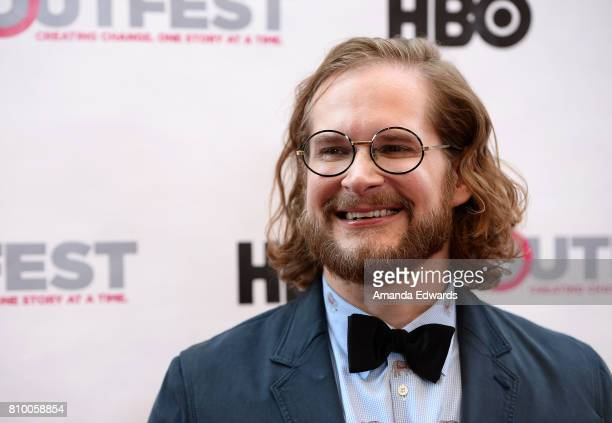 Writer Bryan Fuller arrives at the 2017 Outfest Los Angeles LGBT Film Festival Opening Night Gala of 'God's Own Country' at the Orpheum Theatre on...