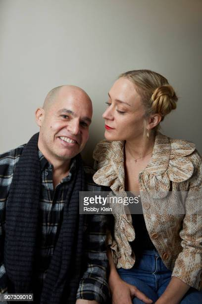 Writer Bryce Kass and Actor Chloe Sevigny from the film 'Lizzie' poses for a portrait in the YouTube x Getty Images Portrait Studio at 2018 Sundance...
