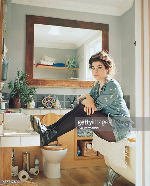 Writer Caitlin Moran is photographed for Knack Weekend on April 9 2014 in London England