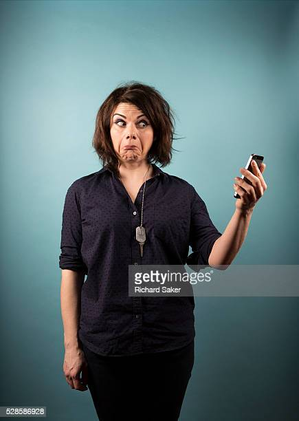 Writer Caitlin Moran is photographed for the Guardian on February 12 2016 in London England