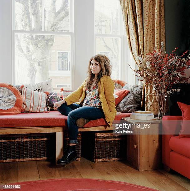 Writer Caitlin Moran is photographed for the Times Byline on March 20 2014 in London England