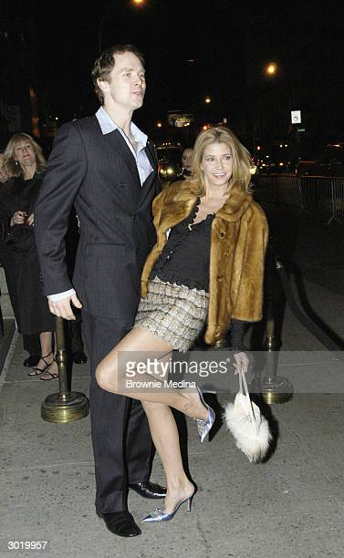 Writer Candace Bushnell and her husband dancer Charles Askegard arrive at the wrap party for Sex And The City at Capitale February 14 2004 in New...