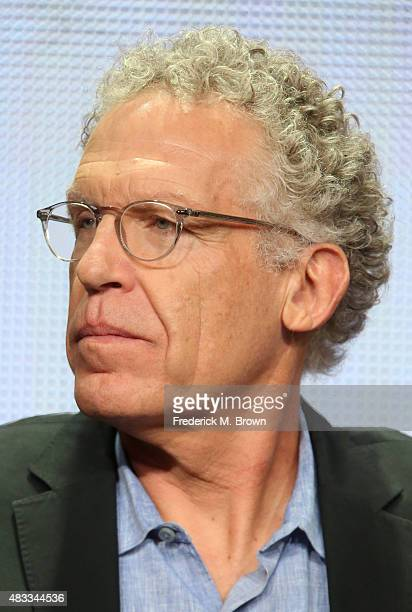 Writer Carlton Cuse speaks onstage during 'The Strain' panel discussion at the FX portion of the 2015 Summer TCA Tour at The Beverly Hilton Hotel on...