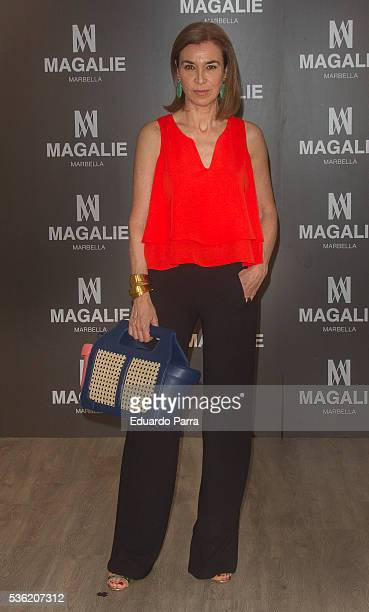 Writer Carmen Posadas attends the ''Magalie 121' Bag presentation at Las Alhajas palace on May 31 2016 in Madrid Spain