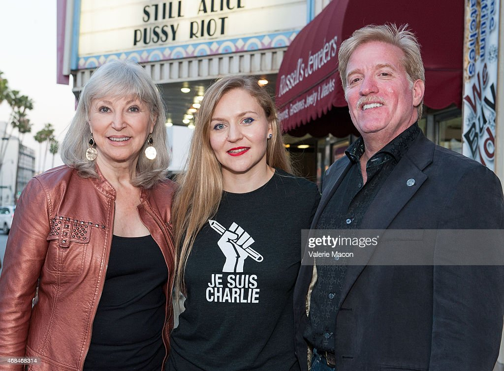 Writer Carole Keeney Harrington, director Natasha Fissiak and producer Robert Reese attend the Los Angeles Premiere And Screening 'Pussy Riot: The Movement' at Laemmle Music Hall on April 2, 2015 in Beverly Hills, California.