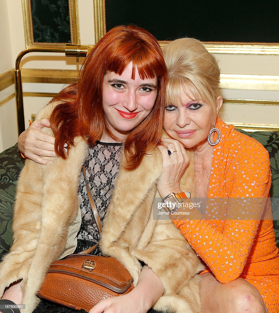 Writer Chloe Wyma and Ivana Trump attend the exhibition of artwork featuring Giovanni Perrone and hosted by Ivana Trump and MarkAntonio Rota on April 30, 2013 in New York City.