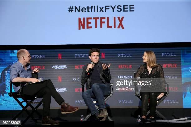 Writer Chris Ryan director/actor Jason Bateman and director Jodie Foster attend the #NETFLIXFYSEE 'Change In Focus' during Netflix FYSEE at Raleigh...