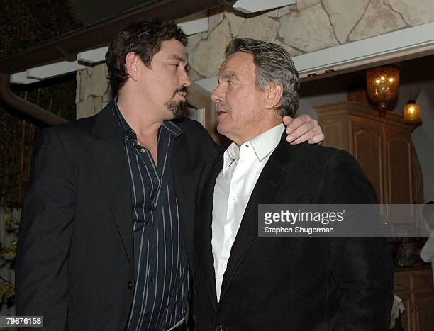 Writer Christian Gudegast and father actor Eric Braeden attend the after party following the premiere of Gudegast Braeden's The Man Who Came Back at...