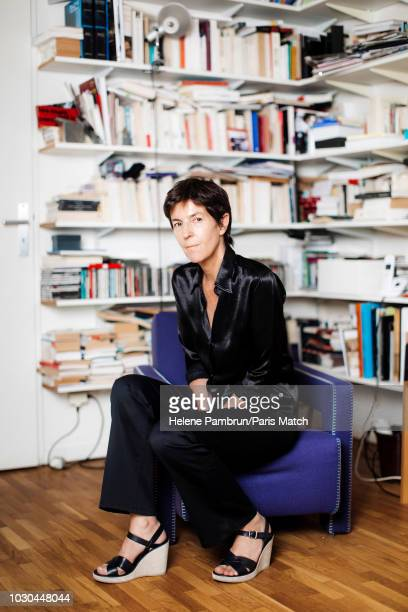 Writer Christine Angot is photographed for Paris Match on August 27 2018 in Paris France