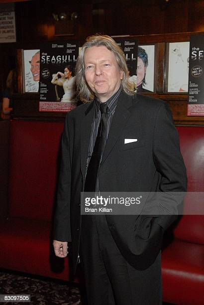 Writer Christopher Hampton attends the after party for the opening night of The Seagull on Broadway at Sardi's on October 2 2008 in New York City