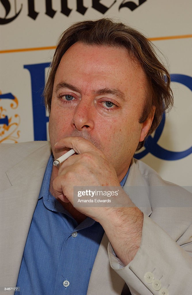 Writer Christopher Hitchens attends the 9th Annual LA Times Festival of Books on April 25, 2004 at UCLA in Westwood, California.