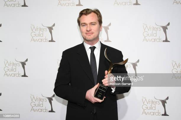 Writer Christopher Nolan attends the 2011 Writers Guild Awards Press Room at the Renaissance Hollywood Hotel on February 5 2011 in Hollywood...