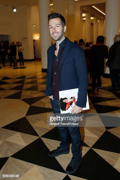 """Writer Christos Markogiannakis attends """"Nana Mouskouri Forever Young Tour 2018"""" at Salle Pleyel on March 8, 2018 in Paris, France."""