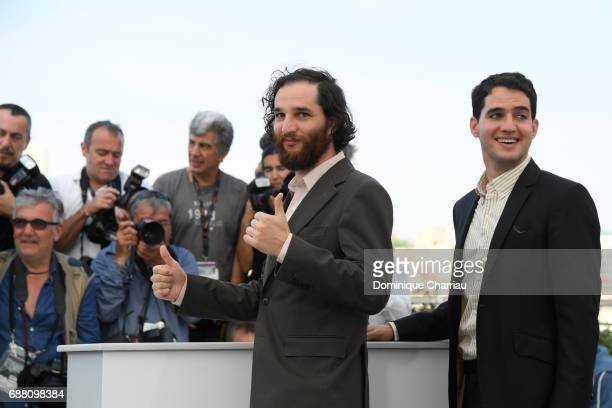 Writer codirector Joshua Safdie and Codirector Ben Safdie attend the 'Good Time' photocall during the 70th annual Cannes Film Festival at Palais des...
