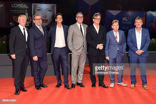 Writer Colin Bateman actor Colm Meaney producer Piers Tempest guest director Nick Hamm actor Timothy Spall and Producer Mark Huffam attend the...