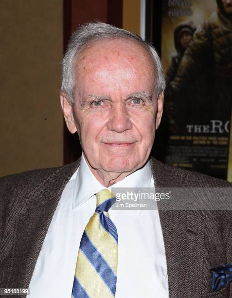 """Writer Cormac McCarthy attends the premiere of """"The Road"""" at Clearview Chelsea Cinemas on November 16, 2009 in New York City."""