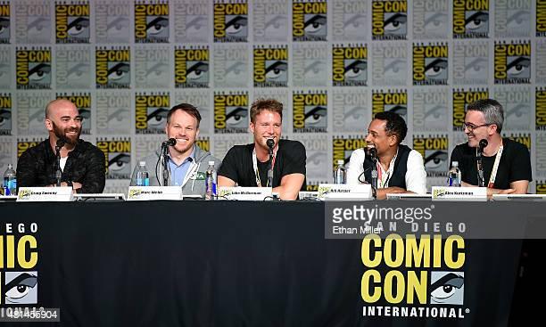 Writer Craig Sweeny director Marc Webb actors Jake McDorman and Hill Harper and executive producer Alex Kurtzman attend CBS TV Studios' panel for...