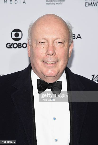 Writer Creator 'Downton Abbey' Julian Fellowes attends 43rd International Emmy Awards at New York Hilton on November 23 2015 in New York City