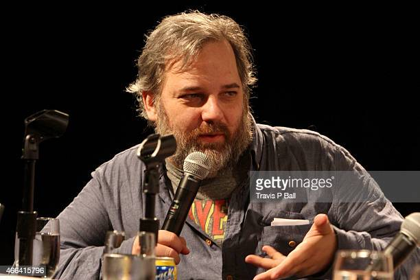 Writer Dan Harmon speaks onstage at 'The Cast Of 'Community' On Moving To Digital' during 2015 SXSW Music Film Interactive Festival at Austin...