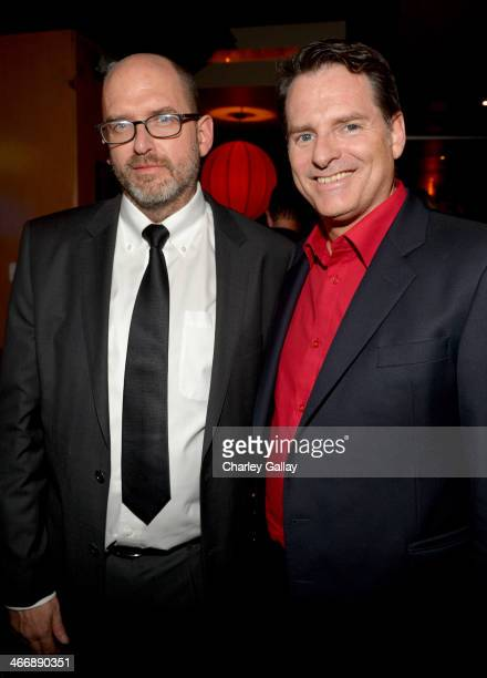 Writer Daniel Waters and director Mark Waters attend The Weinstein Company's premiere of 'Vampire Academy' after party at Lucky Strike Lanes Lounge...