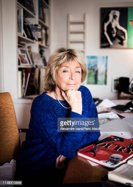 Writer Daniele Thompson is photographed for Paris Match on May 11 2019 in Paris France