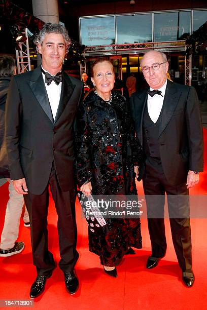 Writer Danielle Steel with her companion and Leonello Brandolini d'Adda attend AROP Gala at Opera Bastille with a representation of 'Aida' on October...