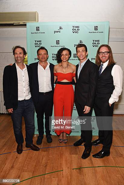 Writer Danny Rubin director Matthew Warchus cast members Carlyss Peer Andy Karl and composer Tim Minchin attend the press night after party for...