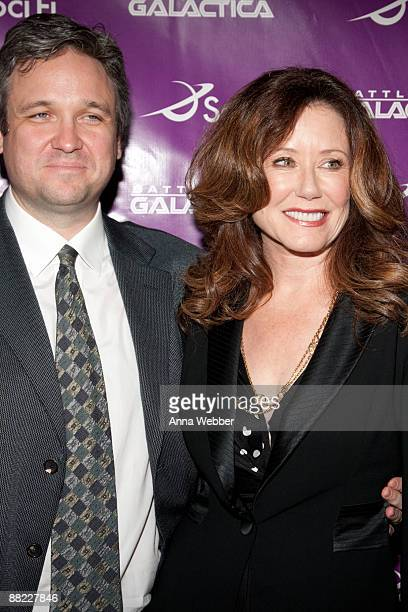 """Writer David Eick and Mary McDonnell arrive at The Envelope Screening Series' Panel Discussion of """"Battle Star Galactica"""" at Mann Chinese 6 on June..."""