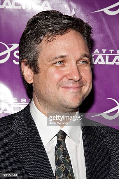 """Writer David Eick arrives at The Envelope Screening Series' Panel Discussion of """"Battle Star Galactica"""" at Mann Chinese 6 on June 4, 2009 in Los..."""