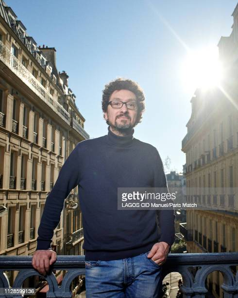 Writer David Foenkinos is photographed for Paris Match in Paris on February 15 2019