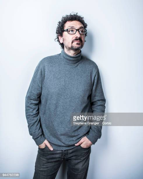 writer David Foenkinos poses during a photoshoot on March 13 2018 in Paris France