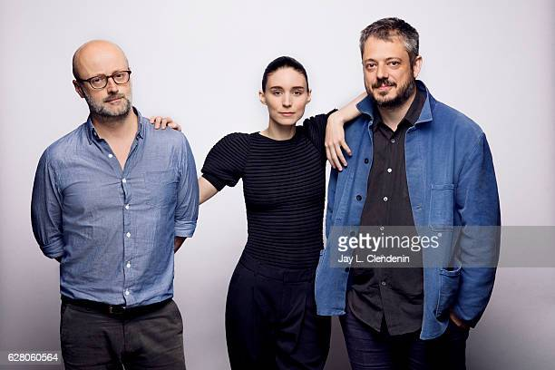 Writer David Harrower actress Rooney Mara and director Benedict Andrews from the film Una pose for a portrait at the Toronto International Film...