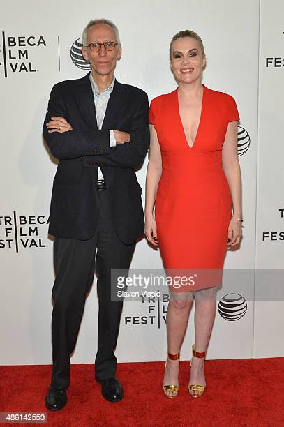 Writer David Ives and actress Emmanuelle Seigner attend the 'Venus in Fur' Premiere during the 2014 Tribeca Film Festival at BMCC Tribeca PAC on...