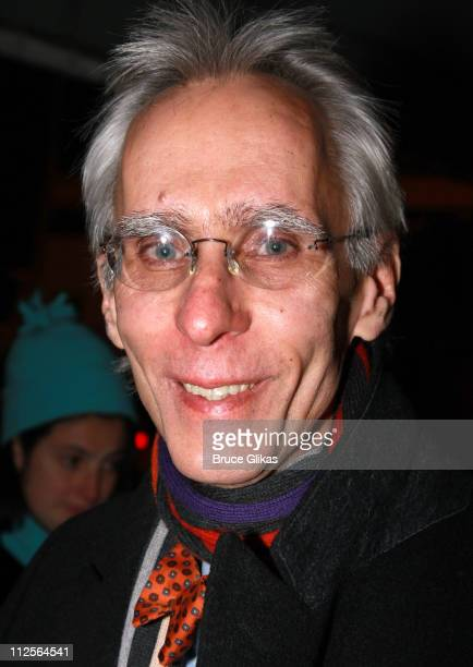 Writer David Ives poses as he arrives for the Opening Night performance of Conor McPherson's play 'The Seafarer' on Broadway at The Booth Theater on...