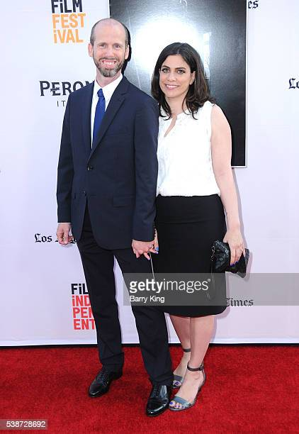 Writer David Leslie Johnson and guest attend 2016 Los Angeles Film Festival 'The Conjuring 2' premiere at TCL Chinese Theatre IMAX on June 7 2016 in...