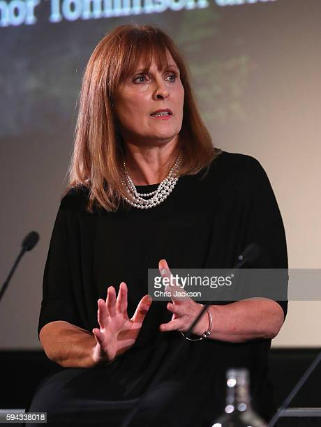 Writer Debbie Horsfield in a question and answer session after a screening of Poldark Series 2 at the BFI on August 22 2016 in London England