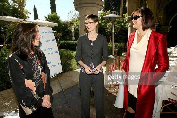 Writer Debra Weiner deputy editor of More magazine Barbara Jones and president of Women in Film Jane Fleming at the More Magazine and Women In Film...