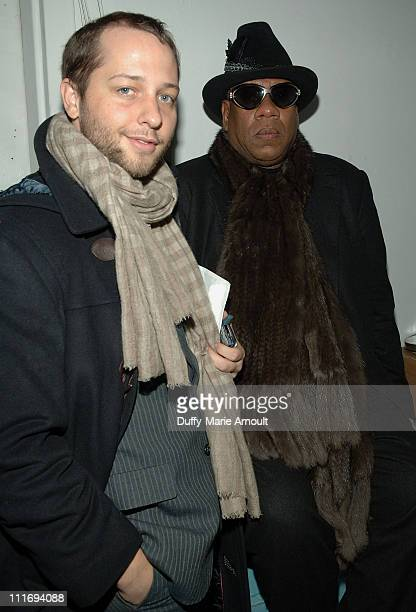 Writer Derek Blasberg and American EditoratLarge for Vogue Andre Leon Talley attend Thom Browne Fall 2008 during MercedesBenz Fashion Week at Exit...