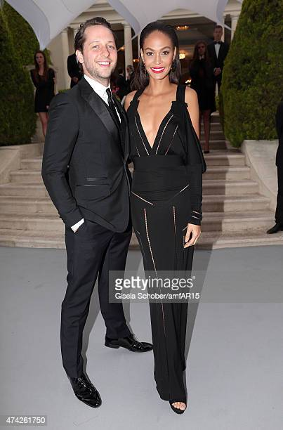 Writer Derek Blasberg and model Joan Smalls attend amfAR's 22nd Cinema Against AIDS Gala Presented By Bold Films And Harry Winston at Hotel du...