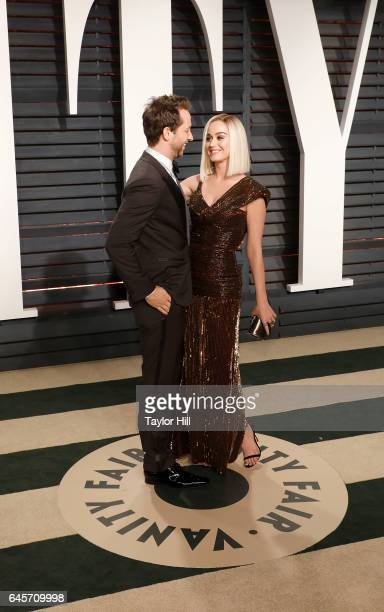 Writer Derek Blasberg and singer Katy Perry attend 2017 Vanity Fair Oscar Party Hosted By Graydon Carter at Wallis Annenberg Center for the...