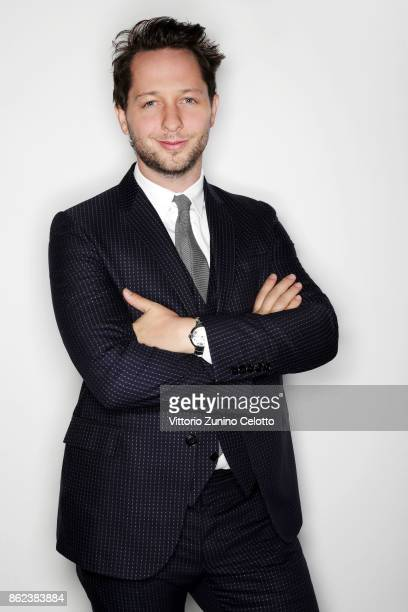 Writer Derek Blasberg poses for a portrait during amfAR Gala Milano on September 21 2017 in Milan Italy