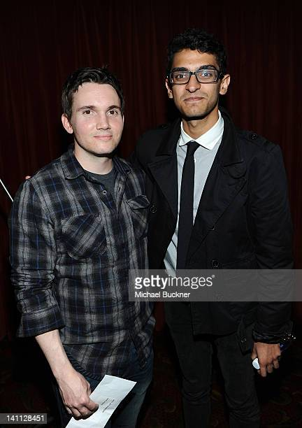 Writer Derek Connolly and actor Karan Soni attend the screening of Safety Not Guaranteed during the 2012 SXSW Music Film Interactive Festival at...