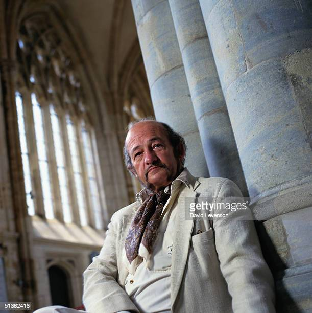 Writer Derek Wilson in Exeter Cathedral in Exeter Devon on July 4 1996 Wilson has written many books including 'Tripletree' 'Keene's Quest' 'Keene's...
